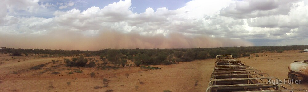 Dust storm from top of stock crate by Kylie Fuller