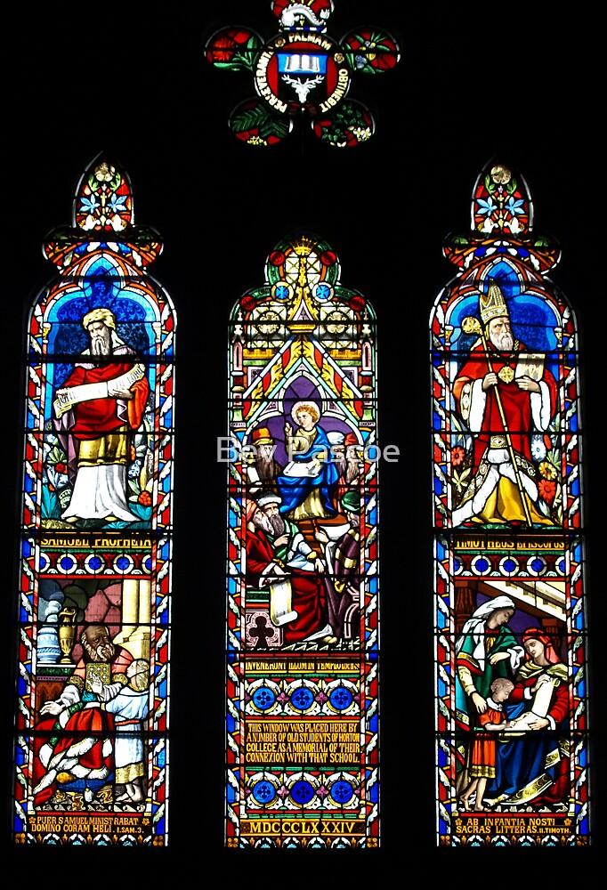 Uniting Church Window, Ross Tasmania by Bev Pascoe
