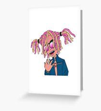 Tarjeta de felicitación Lil Pump Cartoon
