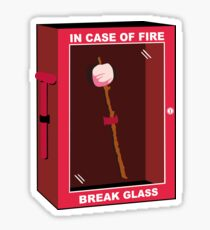Marshmallow - In case of fire break glass Sticker