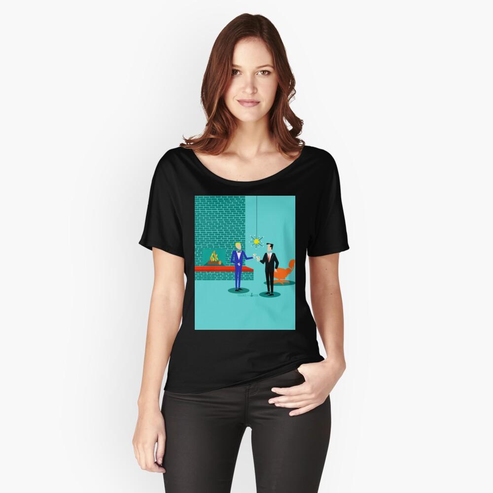 Mitte Jahrhundert Modern Homosexuell Paar Loose Fit T-Shirt