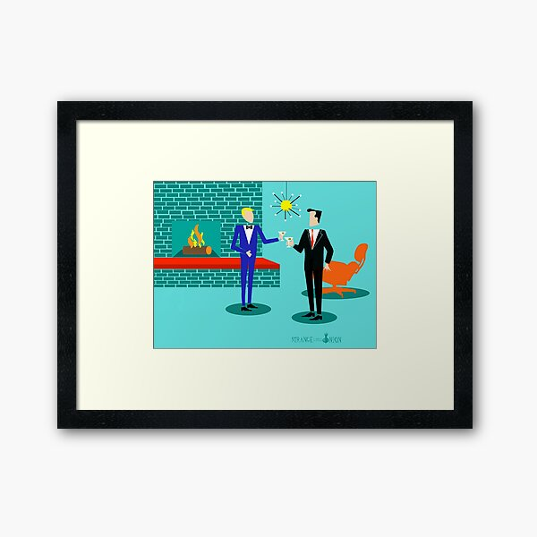 Mid Century Modern Gay Couple  Framed Art Print
