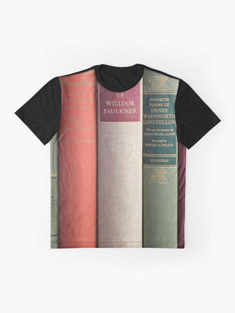 Alternative Ansicht von Alte Bücher Grafik T-Shirt