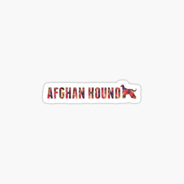 Afghan Hound Colorful Graphic Multi Sticker