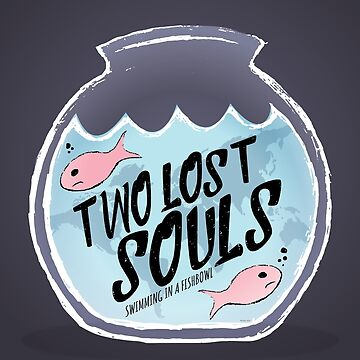 Two Lost Souls Swimming in a Fishbowl Pink Fish by creationseven