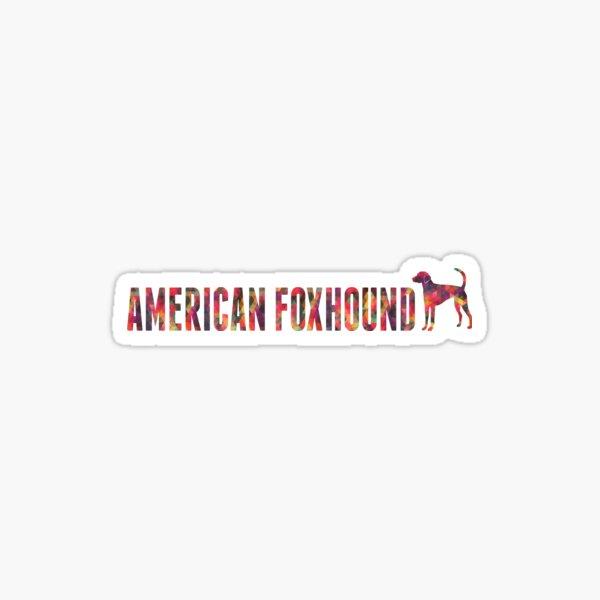 American Foxhound Colorful Graphic Text Multi Sticker