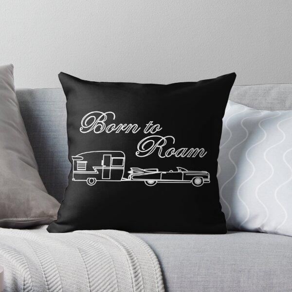 Born to Roam- Shasta & Caddy in White Throw Pillow