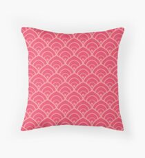 Pink vintage Throw Pillow