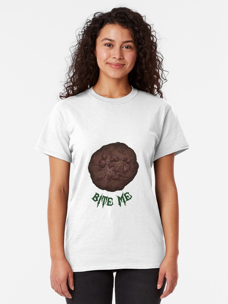 Alternate view of Bite Me-Chocolate Version Classic T-Shirt