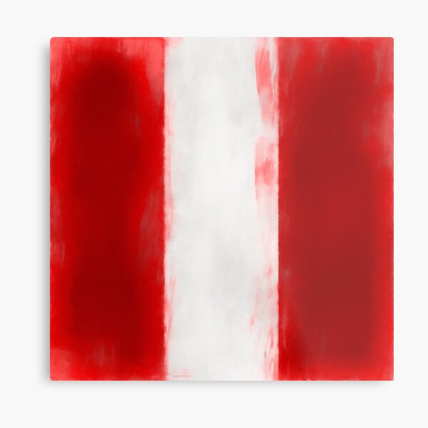 Peru Flag Reworked No. 1, Series 1 Metal Print