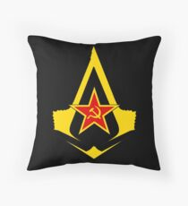 Assassin's Creed Communist geek nerd anonymous revolution Throw Pillow