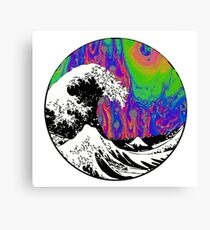 Oil Slick Trippy Aesthetic Wave Tapestry Canvas Print