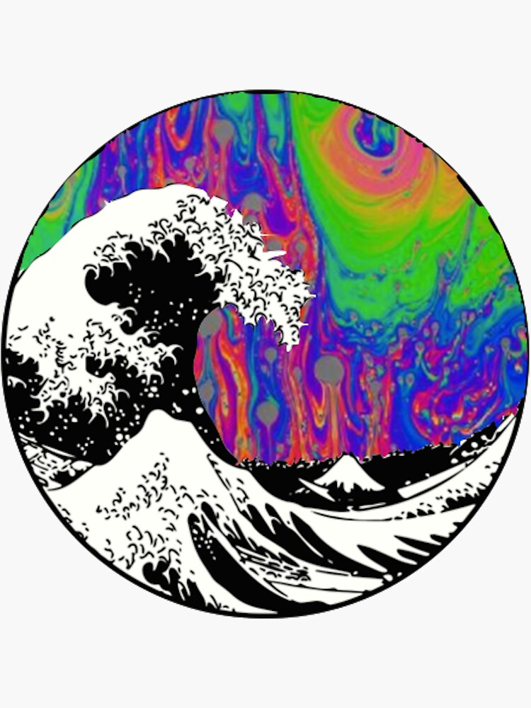 Oil Slick Trippy Aesthetic Wave Tapestry by xxxlemonade