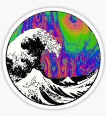 Oil Slick Trippy Aesthetic Wave Tapestry Sticker