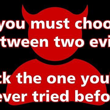 Choose between two evils... by harrizon