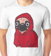 Pug in a Red Hoodie T-Shirt