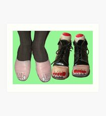 Goody Two Toe Shoes. Magritte Art Print