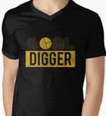 Motivational Shirt Goal Digger Gold Distressed T Shirt Hoodie Sweatshirt Mug Gift Idea Men's V-Neck T-Shirt