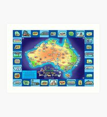 Australia Map board game Art Print