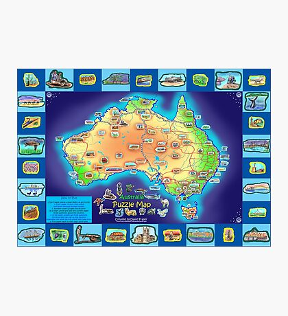 Australia Map board game Photographic Print