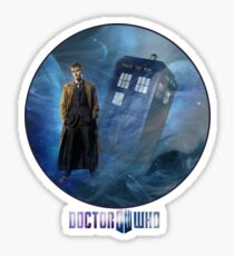 Dr. Who and TARDIS  Sticker