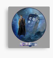 Dr. Who and TARDIS  Canvas Print
