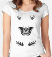Harry Styles Tattoos Women's Fitted Scoop T-Shirt