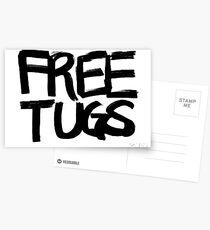 FREE TUGS (black) Postcards