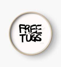 FREE TUGS (black) Clock