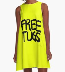 FREE TUGS (black) A-Line Dress