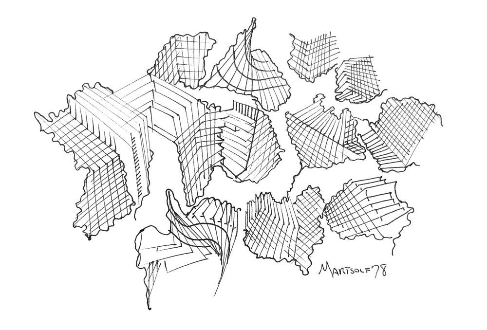 Modern Architecture Dress Skirt Shirt Legging Black White Tank Pillow by Dave Martsolf