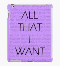 WALK THE MOON - All I Want iPad Case/Skin