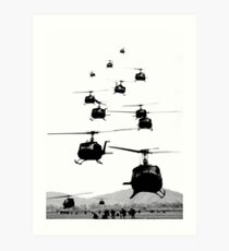 UH1 Huey Helicopters Art Print