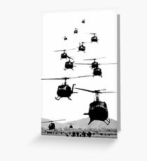 UH1 Huey Helicopters Greeting Card