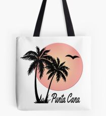 Punta Cana Souvenir Gift Dominican Republic Palm Tote Bag
