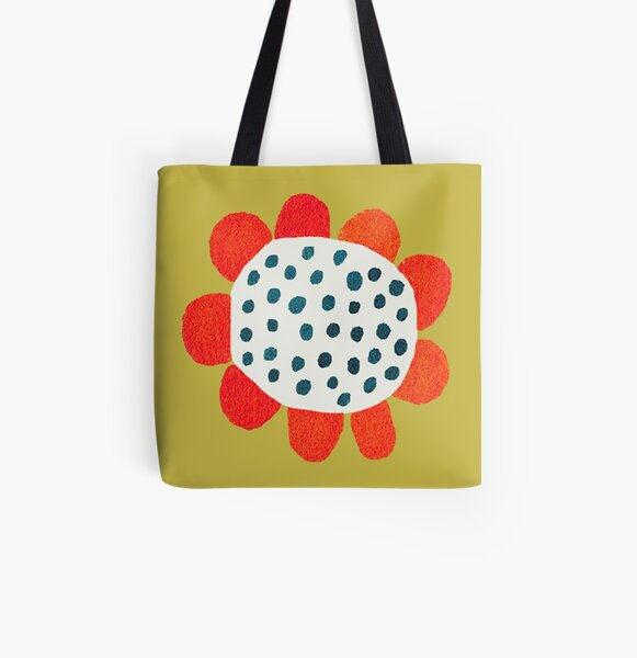 The Flower of Happiness Allover-Print Tote Bag
