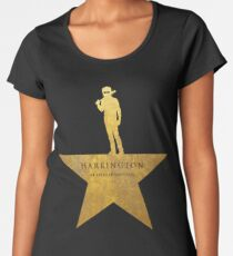 HARRINGTON: An American Babysitter (gold texture) Women's Premium T-Shirt
