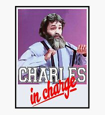 Charles Manson - Charles in Charge  Photographic Print