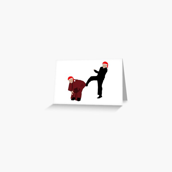 Kicking Bishop Brennan Up the Arse - Christmas Edition Greeting Card