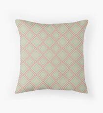 Vintage geometric green Throw Pillow