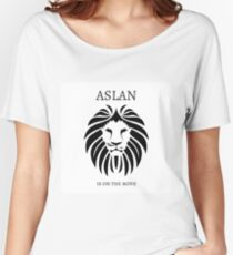 Aslan is on the Move - C.S. Lewis Women's Relaxed Fit T-Shirt