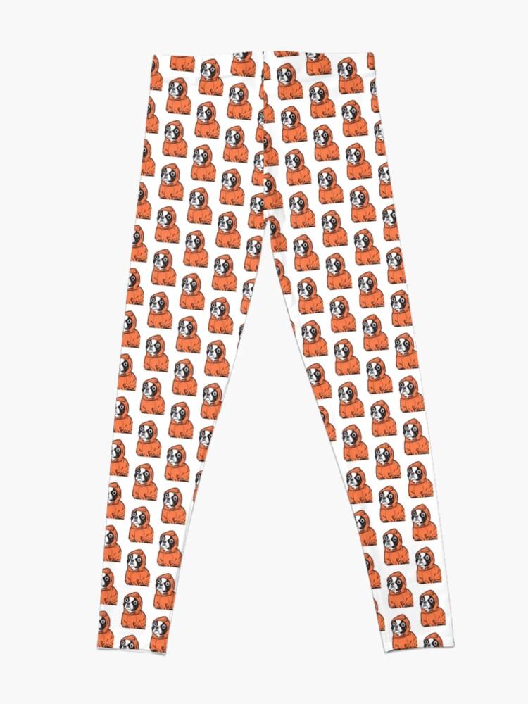 Alternate view of Boston Terrier Orange Hoodie Leggings