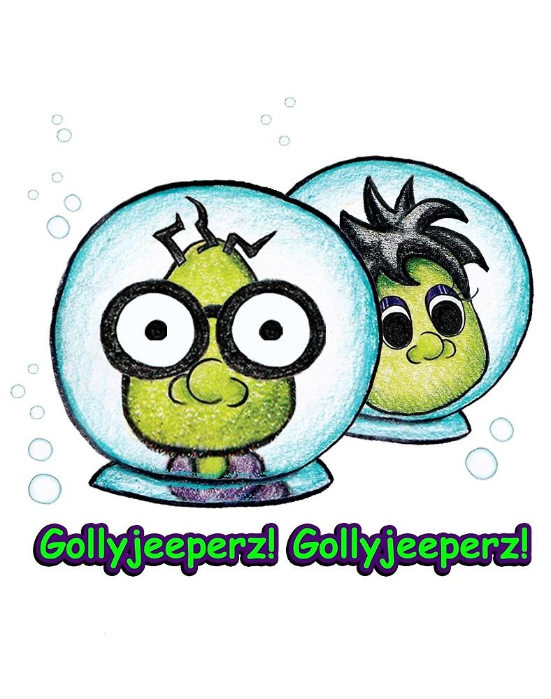 Gollyjeeperz & GollyPeeperz in bubbles by BobbieTallon