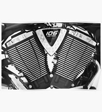 Victory motorcycle  detail Poster