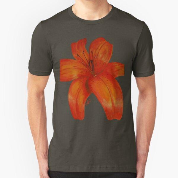 Orange Lily Slim Fit T-Shirt