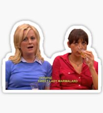Ann and leslie Sticker