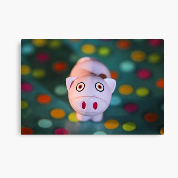 Polka Dot Pig Canvas Print