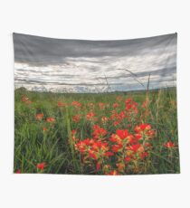 Brighten the Day - Indian Paintbrush Wildflowers in Oklahoma Wall Tapestry