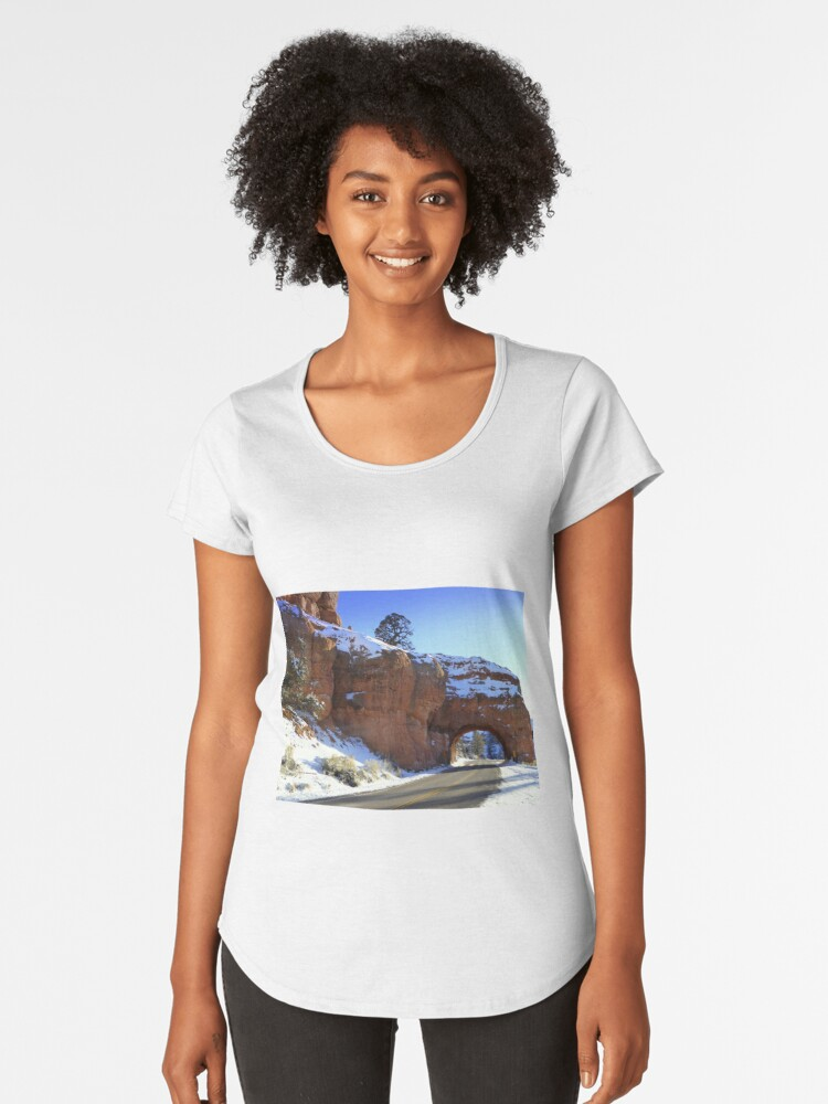 Red Rock Tunnel Women's Premium T-Shirt Front