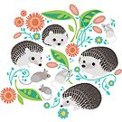 Hedgehog and Mice Friends by robinpickens